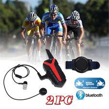 Water Resistant Bluetooth Bicycle Helmet Intercom Headset 2 Way Walkie Talkie O