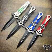TAC FORCE CELTIC CROSS Spring Assisted Open Folding STILETTO Pocket Knife NEW