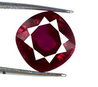 Burma Red Ruby Gemstone 8-10 Ct. 100% Natural Cushion Cut Bumper Sale Certified