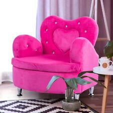 Children Kid Home Soft Velvet Love Heart Armrest Couch Sofa Chair Seat Furniture