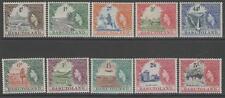 Basutoland SG43/52 1954 conjunto definitivo a 5/= MTD Menta
