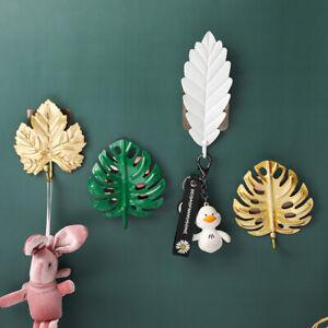 Self Adhesive Hooks Creative Leaf  Shape Wall Door Strong Sticky Sucker Holder