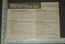 Yamaha PortaSound PSS-80 electronic keyboard synthesizer manual