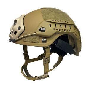 Coyote High Cut NIJ IIIA SOHAH Ballistic CVC Helmet DEVGRU SEAL DH132B Fast Ship