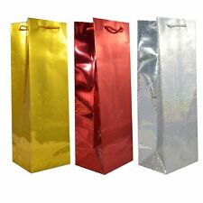 100 Assorted Holographic Wine Gift Bags Xmas Favour Christmas Thanks Present