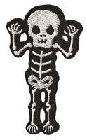 Patch écusson patche Squelette Monster brodé thermocollant