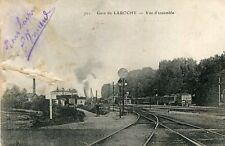Carte MIGENNES Gare de Laroche Vue d'ensemble Train Cachet Militaire au dos