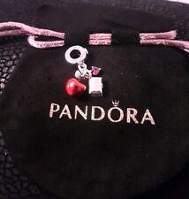 Authentic Pandora Disney Snow White's Apple & Heart Dangle Charm 797486CZRMX