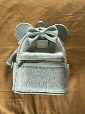 More details for disney loungefly minnie mouse mint sequined mini backpack with bow. brand new