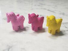 Vintage 1980s Little Pony Pegasus Unicorn Eraser Lot Miniature