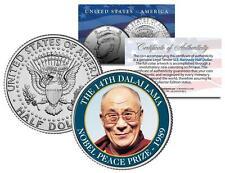 14th DALAI LAMA * NOBEL PEACE PRIZE * 1989 Medal Winner JFK Half Dollar US Coin