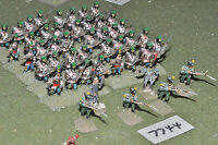 25mm napoleonic / westphalian - infantry 46 figs metal painted - inf (7744)