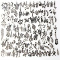 100pcs Charms For DIY Jewelry Making Handmade Mixed Antique Pendents Accessories