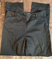 Lauren Ralph Lauren Womens Size 4 Black Side Zip Cropped Pants Stretch Straight
