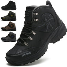 MENS HIKING BOOTS HIGH TOP WALKING ANKLE OUTDOOR TRAIL TREKKING SNEAKERS SHOES !