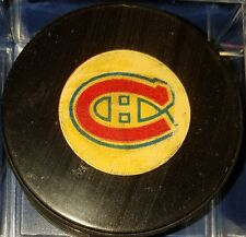 1973-83 VINTAGE  VICEROY OFFICIAL GAME  PUCK  Montreal Canadians NHL CANADA rare