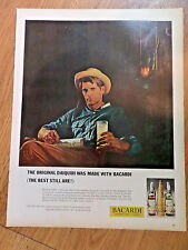 1963 Bacardi Rum Ad The Original Daiquiri was Made with Bacardi Best Still Are