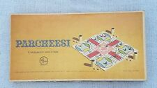 Vintage Parcheesi Gold Seal Edition Wooden Pieces Wood Selchow & Richter 1964