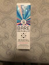 Bare Republic Mineral Sunscreen Lotion Tinted Face Spf 30 (1.7 oz/ 50 ml) New