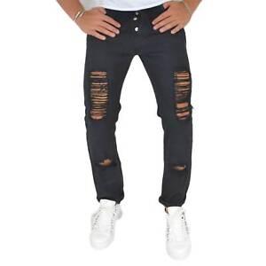 Pantaloni Jeans nero denim biker. Skinny fit.Chiusura con bottoni.Cinque tasche.