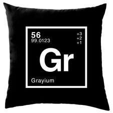 Cojín de color principal gris de 100% algodón para el hogar