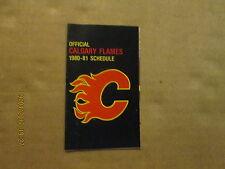 NHL Calgary Flames Vintage Circa 1980-81 Logo Hockey Pocket Schedule