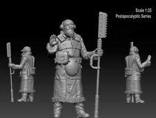 1/35 Scale Zombie War Soldier Unpainted Resin Figure Model Kits Postapocalyptic