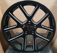 22 SRT10 Viper Wheels Black Milled Rims Fit Dodge Charger Challenger Magnum 300C