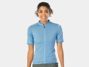 Bontrager Adventure Women's Wool Blend Cycling Jersey, Large,Chambray Blue