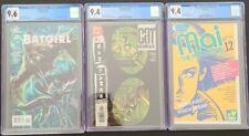 3 CGC GRADED Comics D.C. 9.4 CAT WOMAN  #35 & (9.6 BAT GIRL #11) 9.4 MAI #12