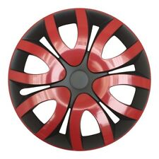 "4x Premium Diseño Tapacubos"" Mika ""15 pulgadas #37 en rojo negro"