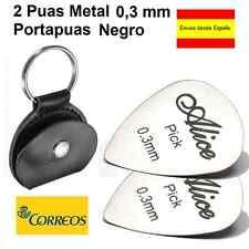 2 PUAS METAL 0.3 MM + PORTAPUAS LLAVERO NEGRO.