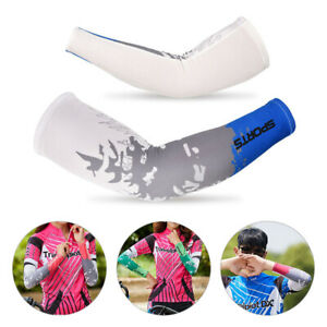 1Pair Women Men Cooling Arm Sleeves Cover UV Sun Protection Outdoor Sports US