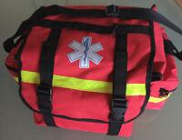 Notfalltasche Rettungsdienst Rescuebag rot mit gelben Reflex  Star of Life
