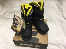 Kamik-Toddler Size 8 Snowchase Black Rubber Snow Shoes Winter Boots -New