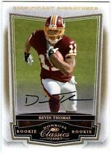DEVIN THOMAS 2008 Classics Significant Gold Rookie Auto 74/125 Card #188
