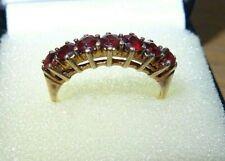 A Truly Wonderful 9ct Gold Vintage Garnet Half Eternity ring size P