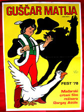 MATT THE GOOSEBOY 1977 LUDAS MATYI HUNGARIAN ATTILA DARGAY EXYU MOVIE POSTER