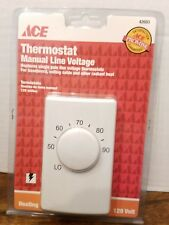 Ace Manual Line Voltage Thermostat Heat Only Designed For 120 Volt Systems