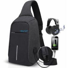 Zaino Antifurto Monospalla porta USB e Cuffie Viaggio Scuola Lavoro Impermeabile