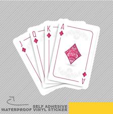 Set of Cards Player Nice AS Queen Vinyl Sticker Decal Window Car Van Bike 2094