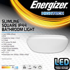 Energizer LED Square Bathroom Ceiling Light Fitting IP44 Indoor Outdoor Lighting