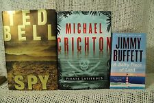 lot 3 old books Ted Bell Spy Thriller Pirate Latitudes. A salty Piece of Land