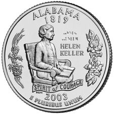 "ALABAMA 2003 State Quarter 25c Brilliant Uncirculated  "" P "" Mint  AL"