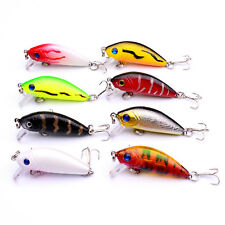 8pcs Mix Color Fishing Fish Floating Minnow Crankbaits Lure Hook Baits 5cm/3.6g