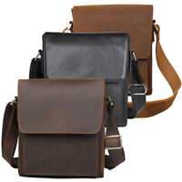 Men Real Leather Messenger Shoulder Bag Cross Boday Bag Satchel Business Bag