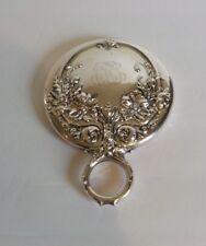 Wallace Sterling Silver Handle Hand Mirror Art Nouveau, c. 1890-1900