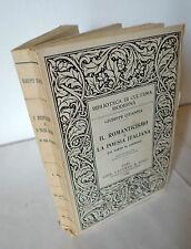 Citanna,IL ROMANTICISMO E LA POESIA ITALIANA,1949 Laterza[Leopardi,Scapigliatura