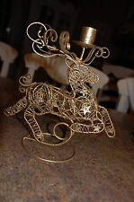 goldtone wire reindeer candle holder