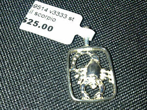 Sterling Silver Scorpio charm or pendant New